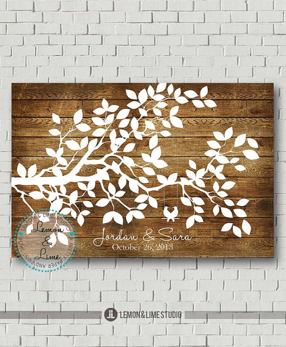 Items Similar To Wedding Guest Book Alternative Tree Guestbook Keepsake Signs Wood Gift Ideas