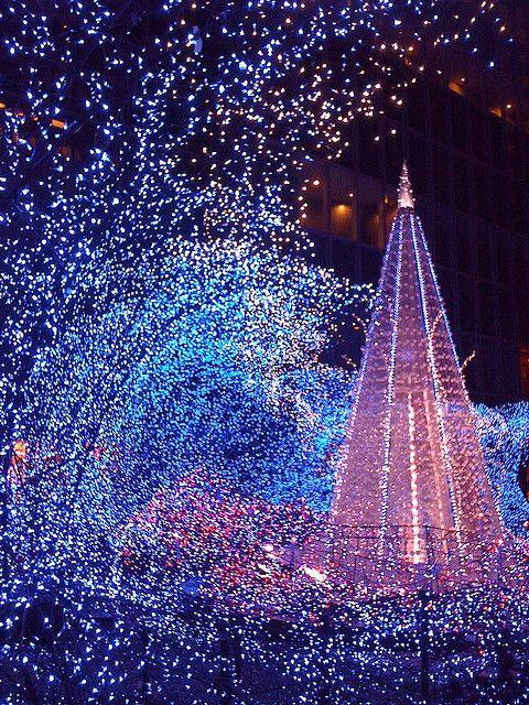 Illumination In Tokyo 2008 Xmas Christmas Lights Blue Christmas Christmas Holidays