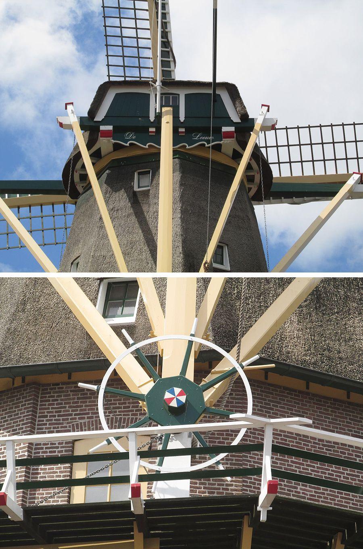 Molen de Leeuw te Aalsmeer, gelukkig gekocht door de gemeente, want het is een mooie en stadsbeeld bepalende molen.