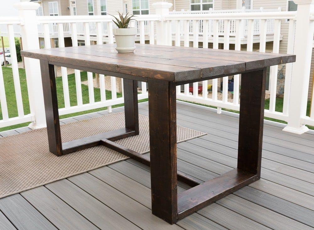 Easy Outdoor Diy Projects In 2020 Modern Outdoor Table Outdoor