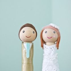 Possibly the cutest cake toppers you've ever seen!  Handcrafted with love by Hello Beautifully Made.