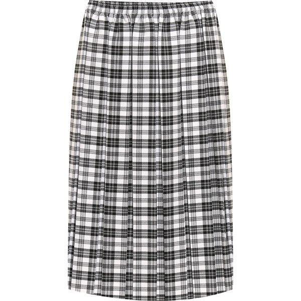 c559bd0d6e WearAll Plus Size Tartan Check Print Pleated Midi Skirt ($22) ❤ liked on  Polyvore