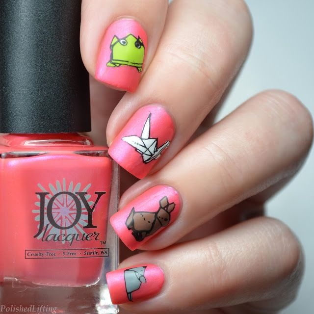 Origami Paper Animals Joy Lacquer Watermelaloupe I Luv Nail Art