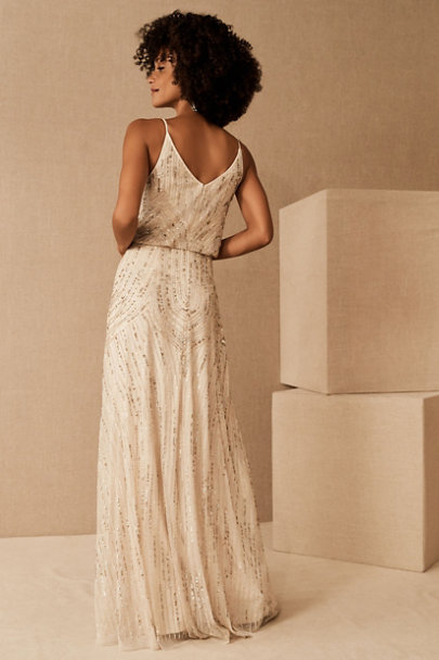 Fidelia Beaded Maxi Dress In 2020 Beaded Maxi Dress Champagne Formal Dresses Dresses