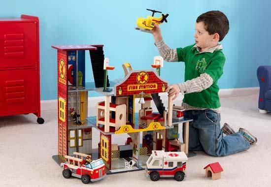 Kidkraft Deluxe Fire Station Review Firefighter Firefighter Gifts Firefighter Family
