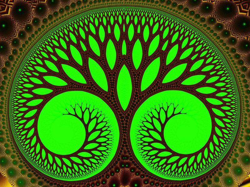 Tree 2, Fractal Art by Vicky Brago-Mitchell