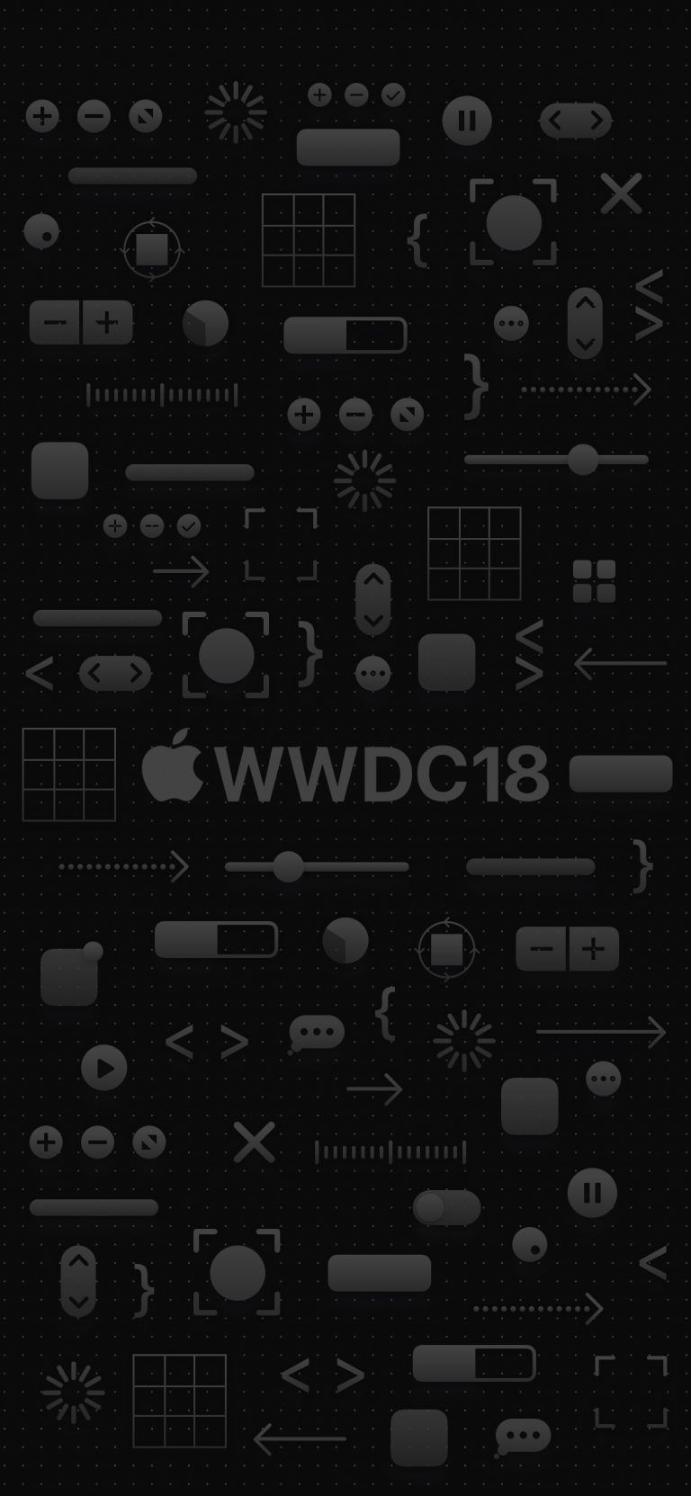 iPhone X ALL Dark WWDC iOS 12 Wallpaper #ios13wallpaper