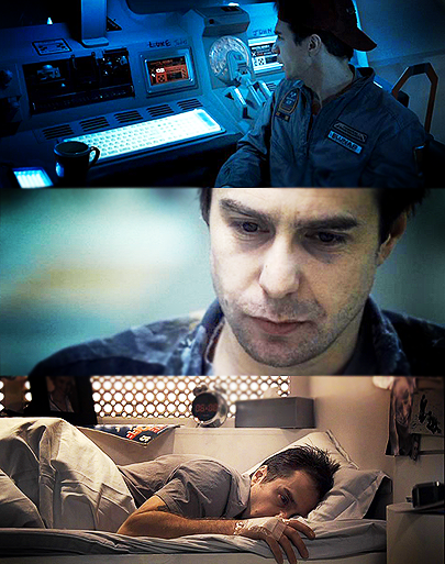 Sam Rockwell in Moon.