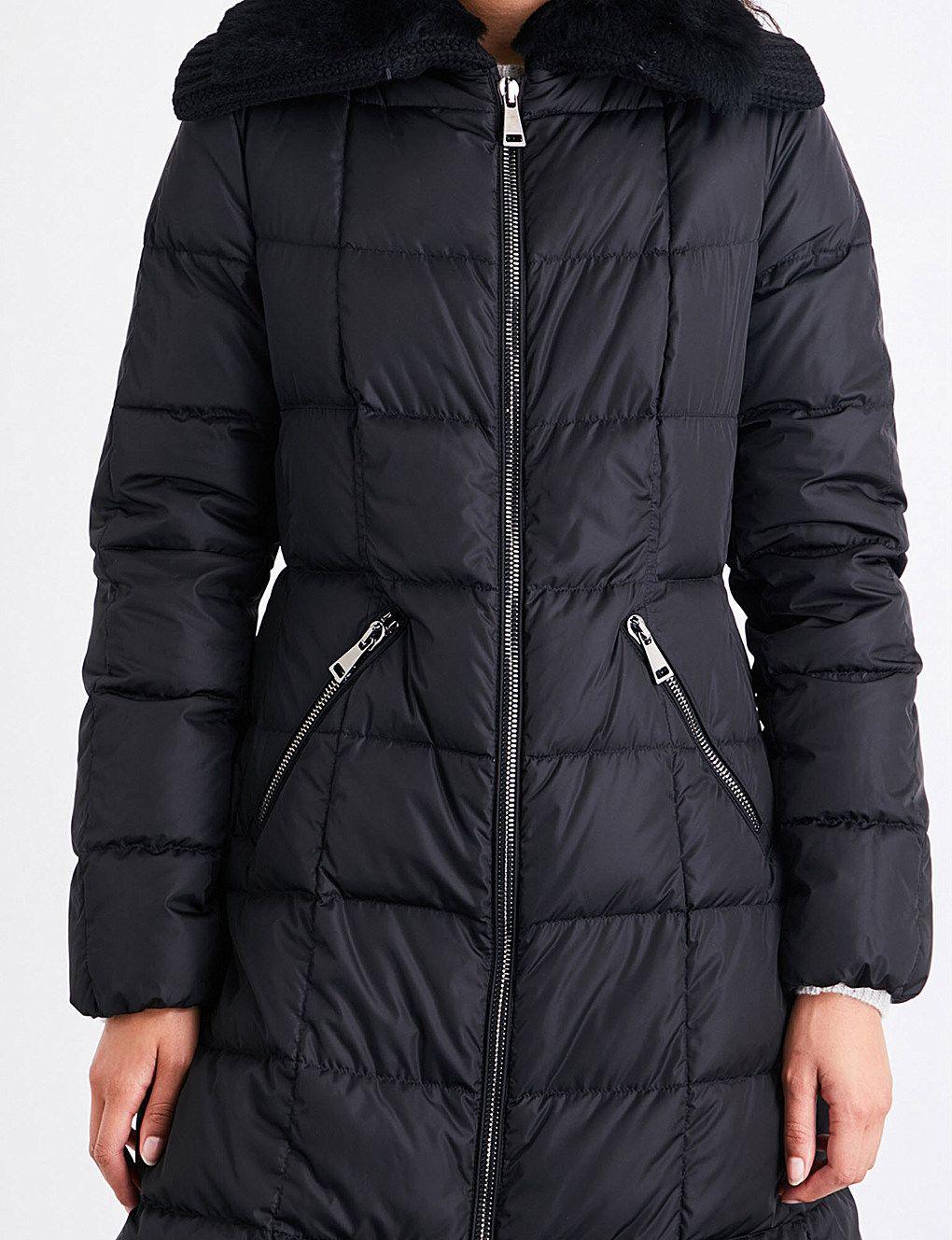 f67a72b008f MONCLER - Davidia shearling-collar shell down jacket | Selfridges.com