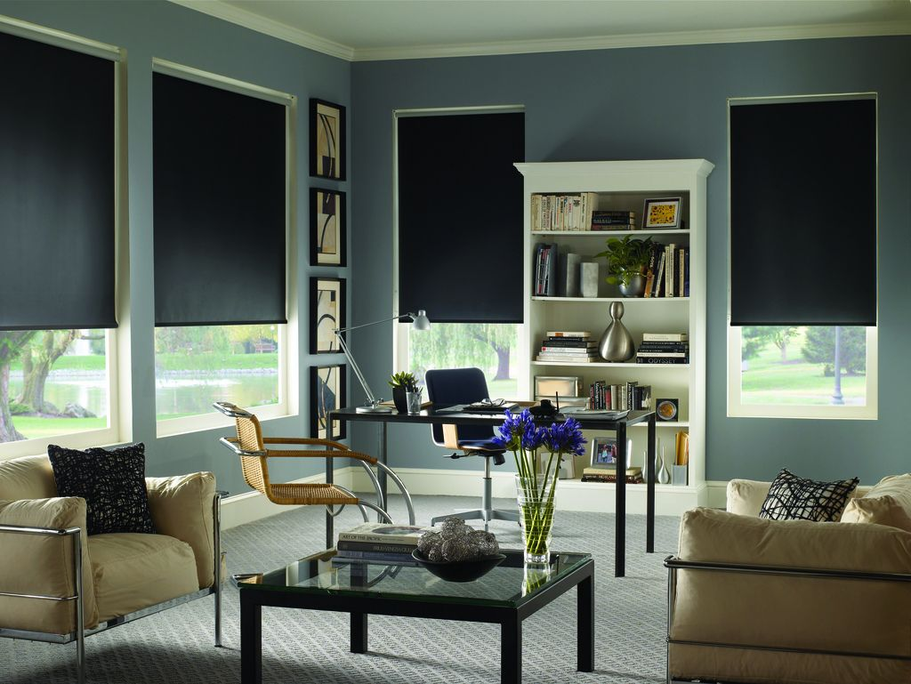 Get Ready For Game Day Best Window Treatments For Media Room Blinds Com Living Room Blinds Curtains With Blinds Window Treatments Living Room