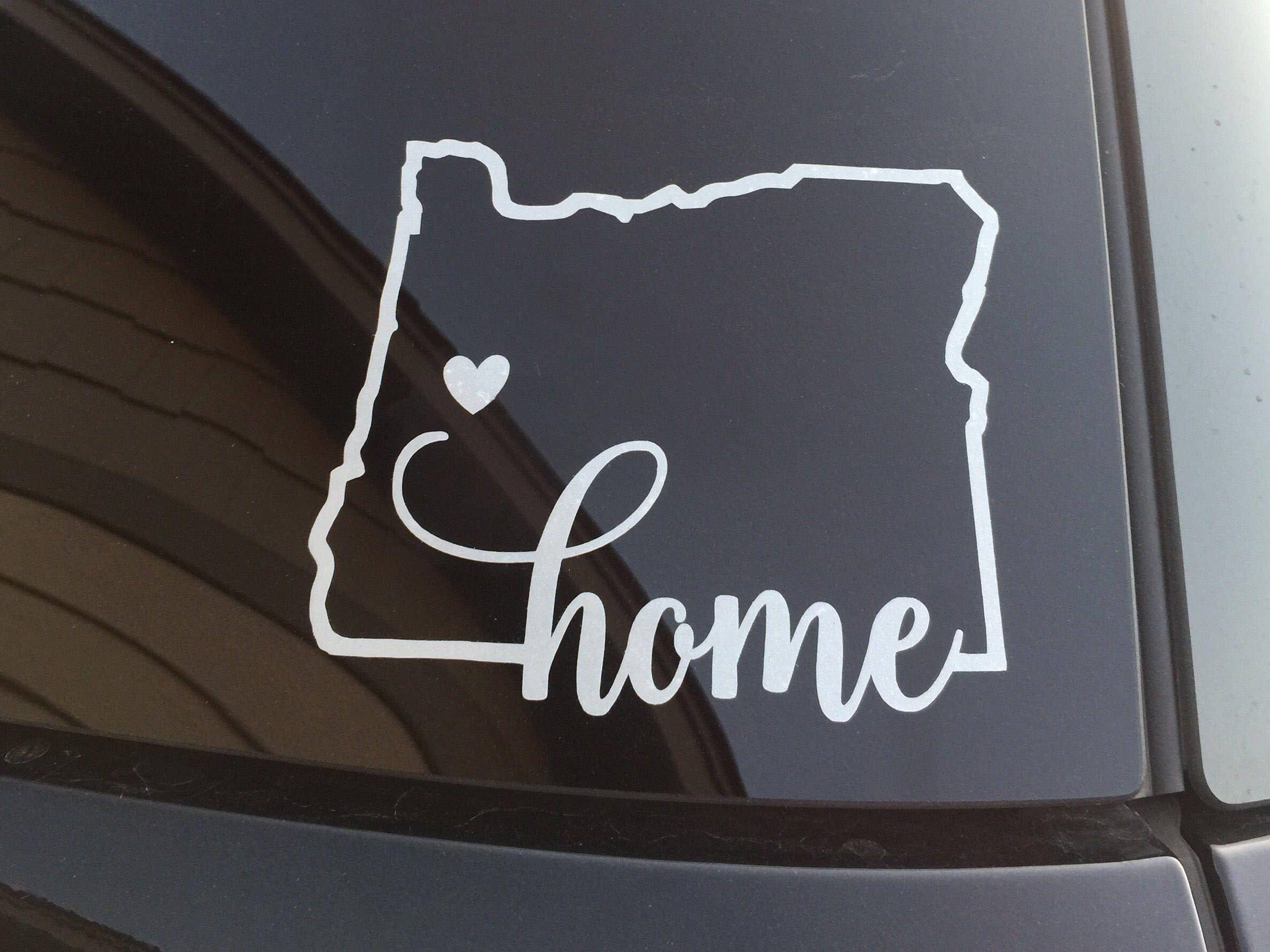 Oregon Home Window Decal Oregon Silhouette Decal Sticker Car Window Decal Wall Sticker Labtop Decal Vinyl Art I Window Decals Car Decals Car Window Decals [ 1784 x 2378 Pixel ]