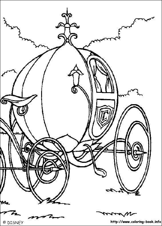 Pumpkin Carriage Coloring Page For Silhouette Printable