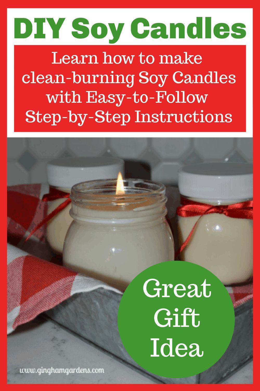 Easy DIY Candle Making Gingham Gardens in 2020 Diy