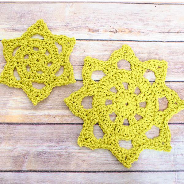 Chunky Crochet Doily Pattern In Two Sizes Stern Häkeln Sterne Und