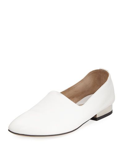 24d175a2f5 Ive Leather Loafers, White   Paul andrew, Leather loafers and Leather