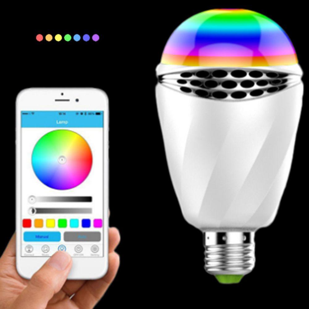 APP Control Colorful Light Bulb Wireless Bluetooth Speaker