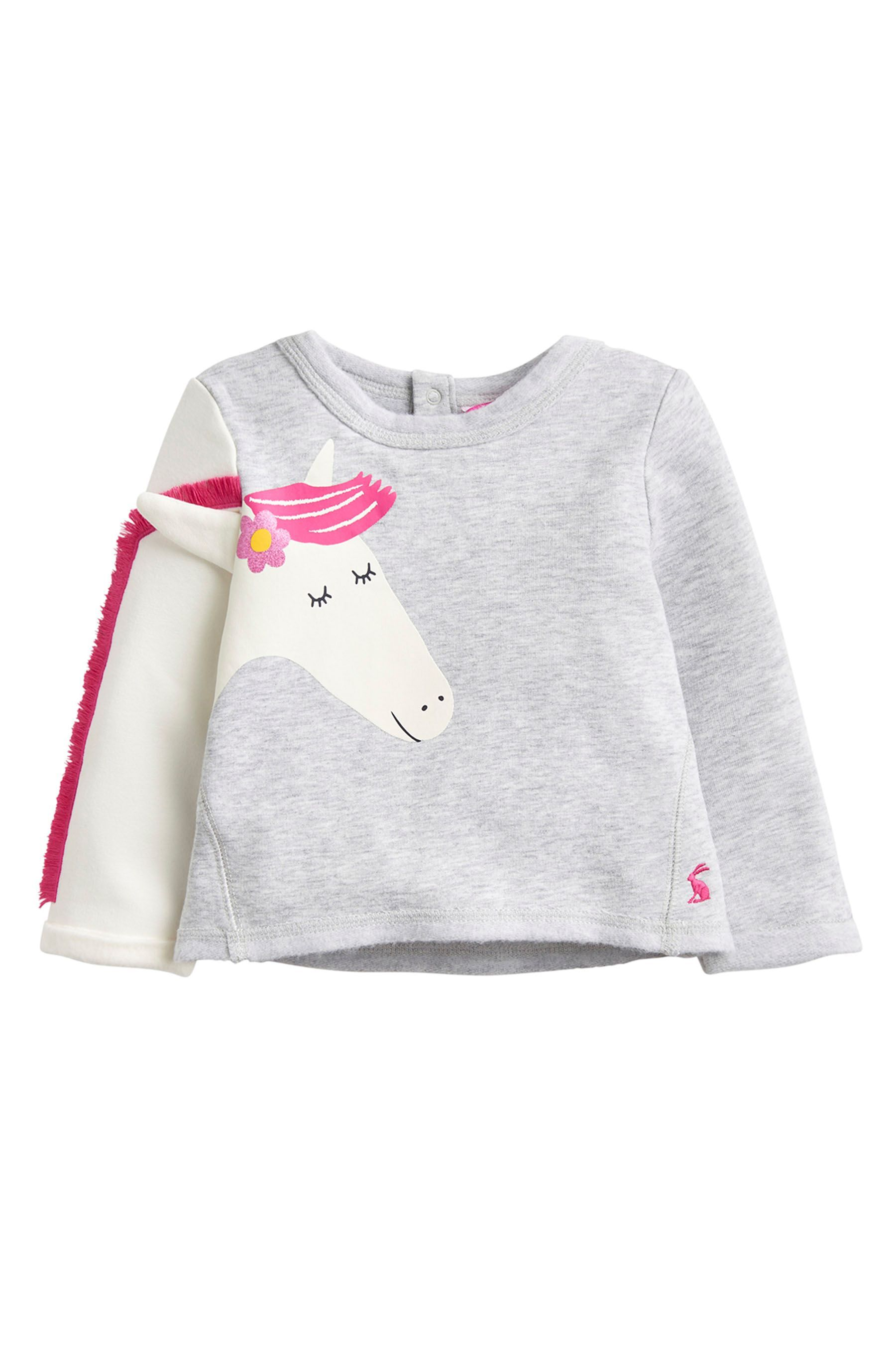 Buy Joules Grey Baby Dash Novelty Sweatshirt from the Next