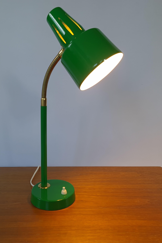 Funky Green Desk Lamp From Bjs Skelleftea Sweden 1960s Mid Century Modern In 2020 Lamp Desk Lamp Vintage Lamps