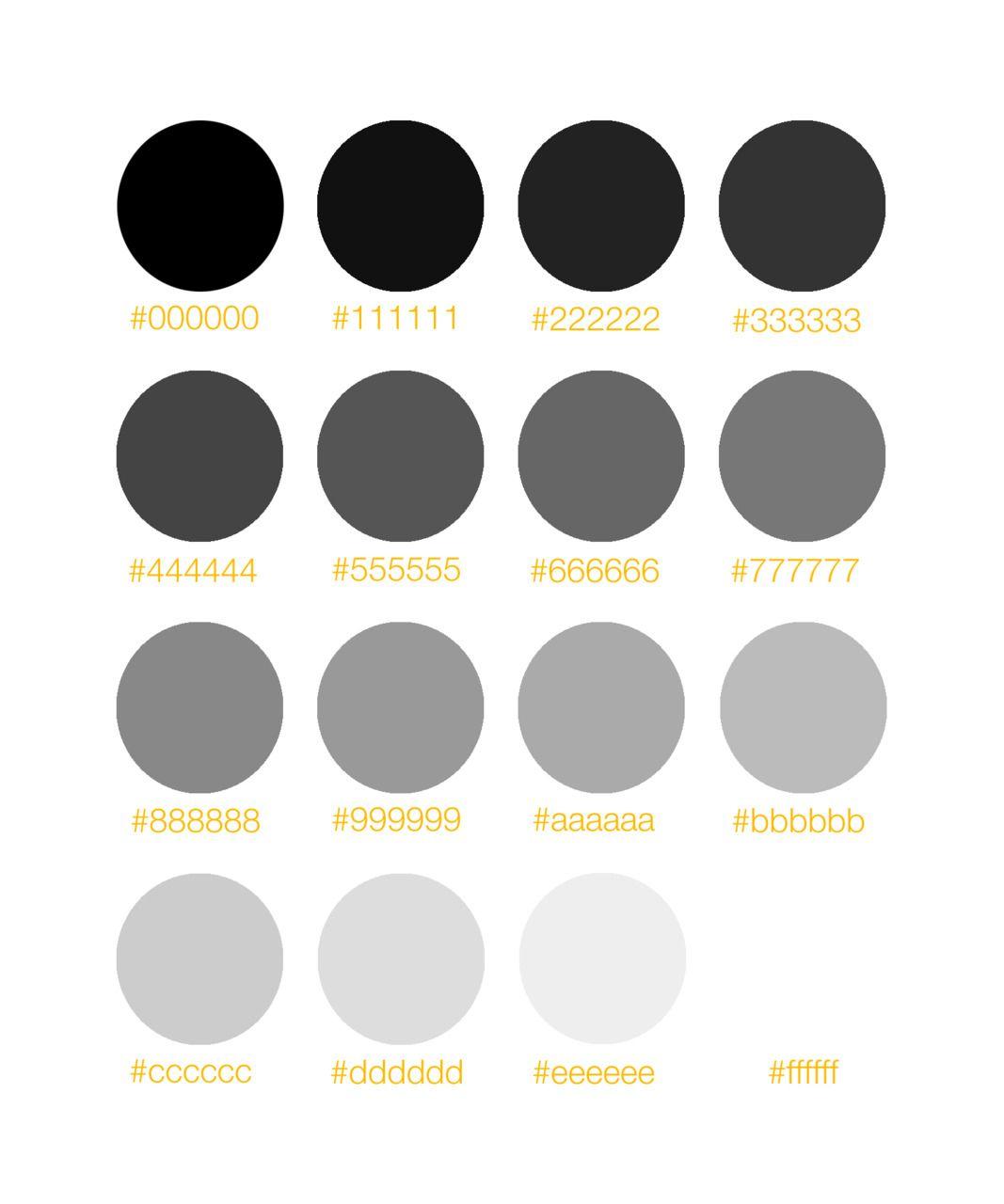 Grey scale organized neatly. ed: I learned something ...