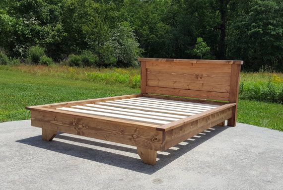 Cama de plataforma cama de bajo perfil Ava sólida cama de