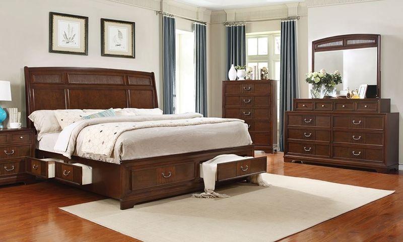 Parkhurst Reeded Queen Storage Bedroom Bedroom Sets Furniture Queen Bedroom Sets Furniture