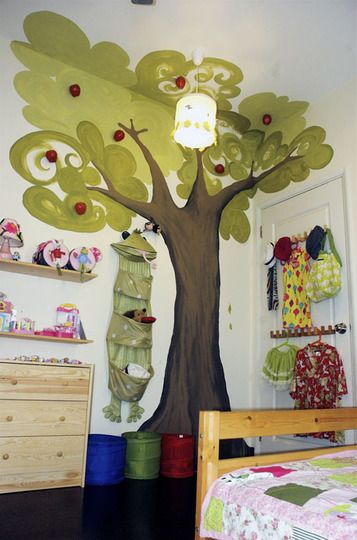 Whimsical tree mural...Love it!
