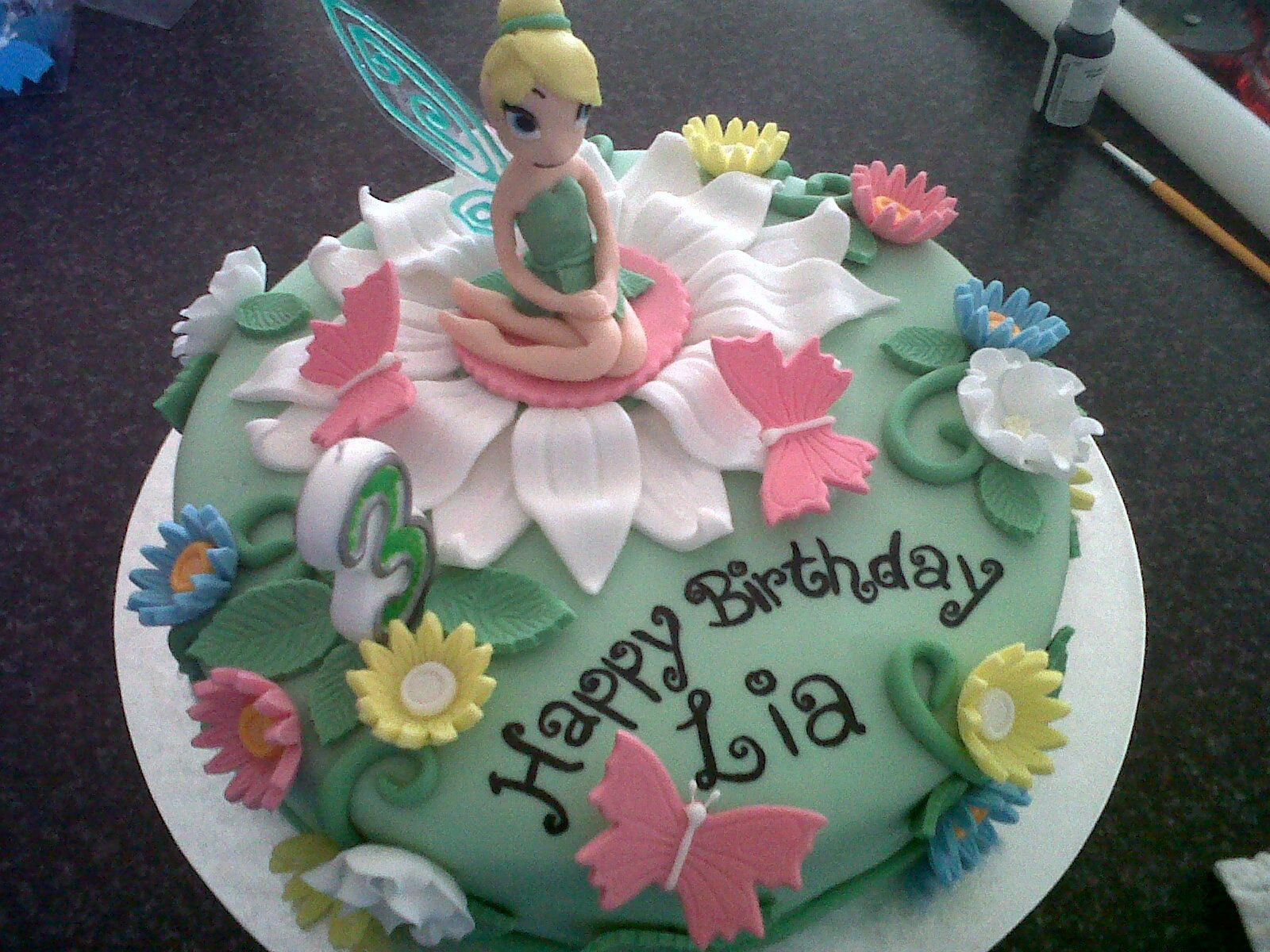 Tinkerbell Cake 1 Lizzie Botma Cape Town South Africa Cakes