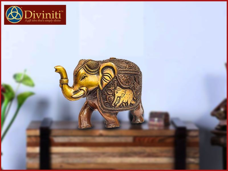 Keeping Elephant Idols At Home Benefits Corporate Gifts Elephant Lion Sculpture