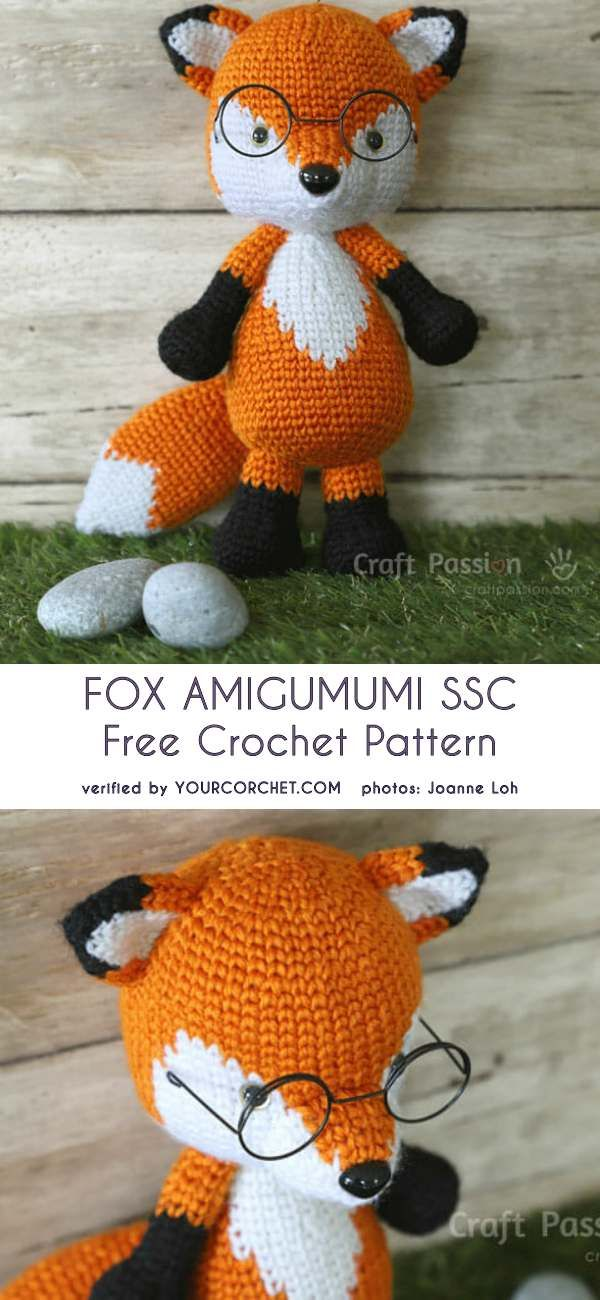 Amigurumi Fox Split Sing Crochet Free Pattern #amigurumipattern