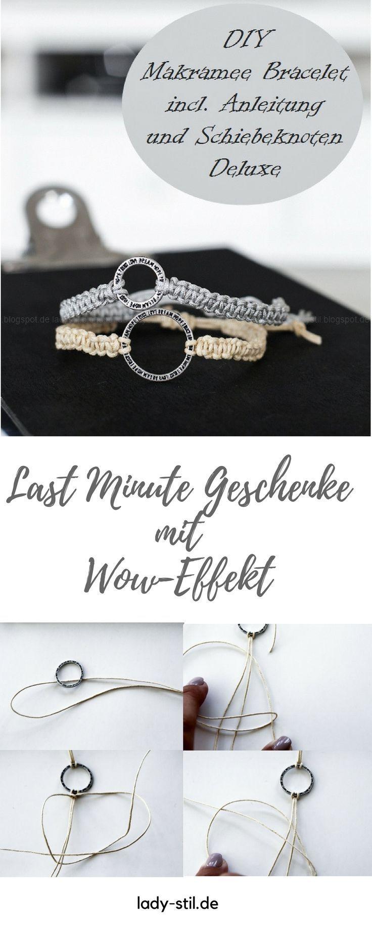 Weihnachtsgeschenke Tipp für Männer und Frauen - DIY Makramee Armbänder und Schlüsselanhänger - Armcandy - lady-stil.de