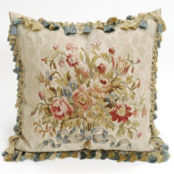French Creme Damask Aubusson Pillow available @ CoachBarn.com #coachbarn #homedecor #homefurnishings
