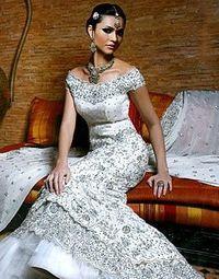cebae81837 indian wedding white and silver bridal dress / wedding ideas ...