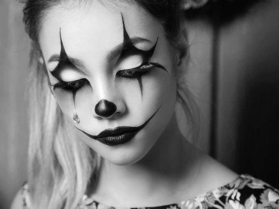 pingl par vivi sur clown arlequin pierrot pinterest halloween maquillage et maquillage. Black Bedroom Furniture Sets. Home Design Ideas