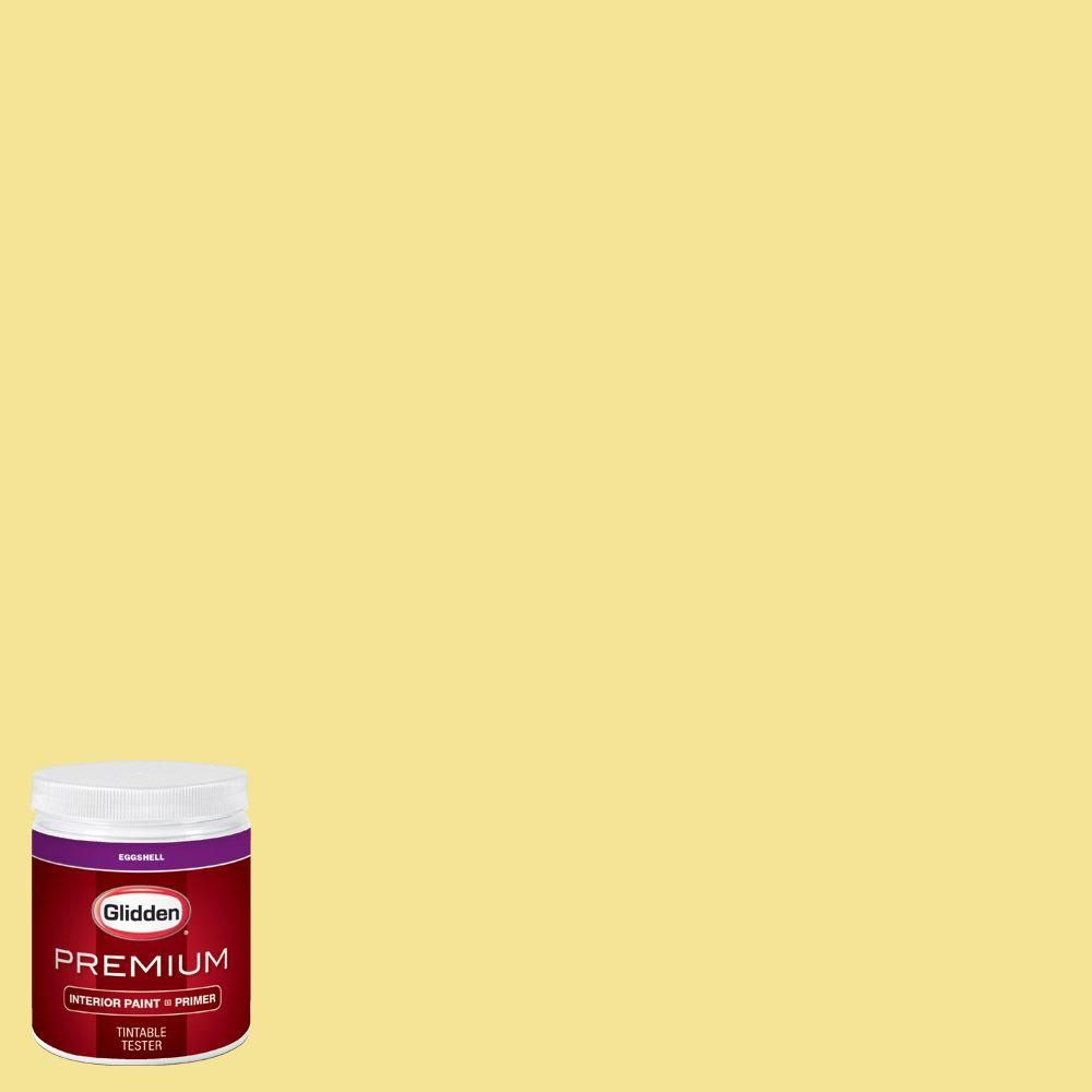 Glidden Premium 8 oz. #HDGG03 Meadow Flower Yellow Eggshell Interior Paint with Primer Tester