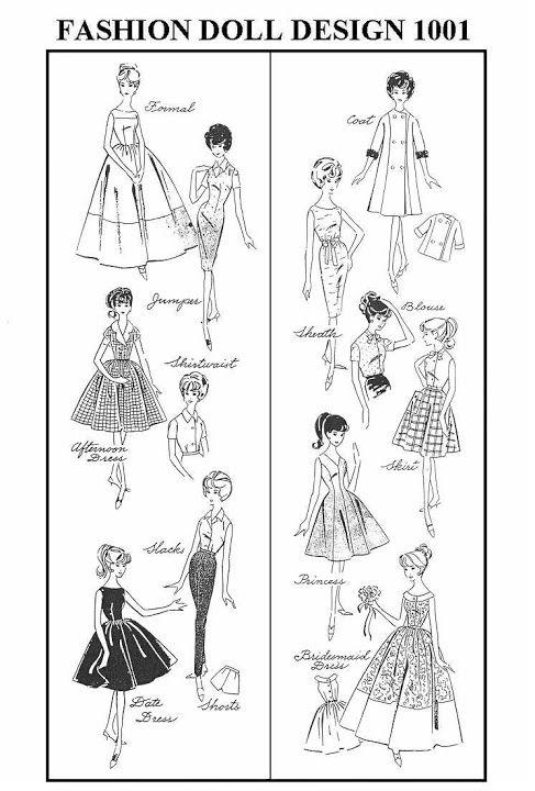 Free Copy of Pattern - Fashion Doll Design 1001 | Barbie | Pinterest ...