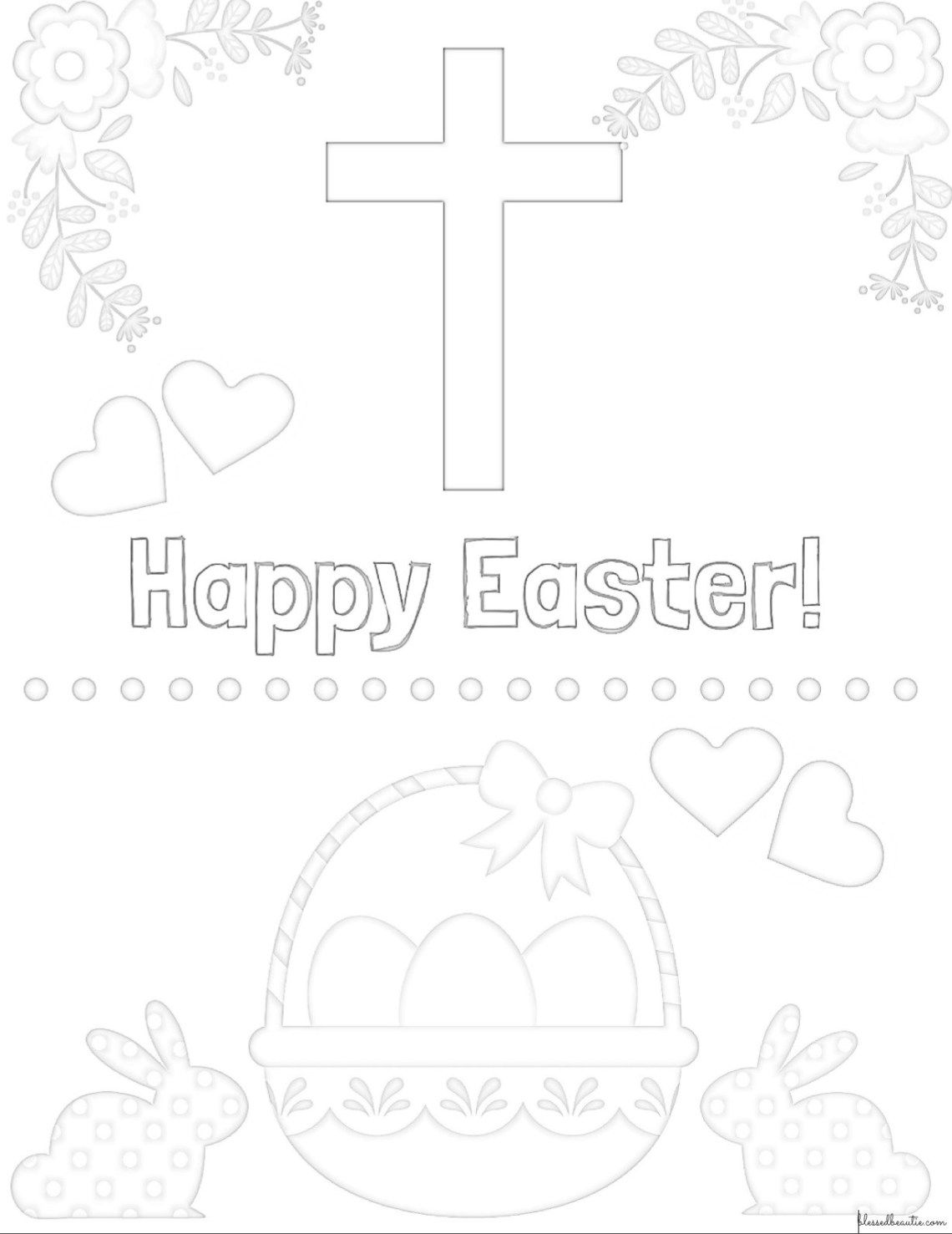 Pin on 7 adorable free printable christian Easter coloring