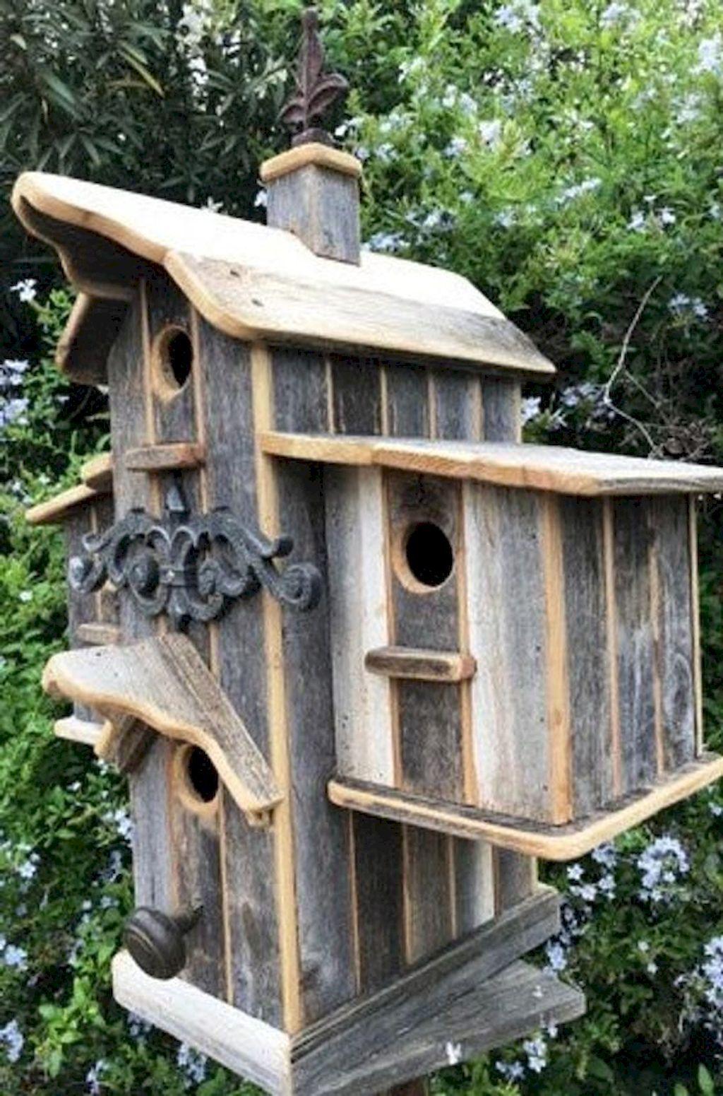 Gorgeous 60 Birdhouse Ideas To Make Your Garden More Beautiful Https Architeworks Com 60 Birdhouse Ideas To Make Yo Unique Bird Houses Bird Houses Bird House