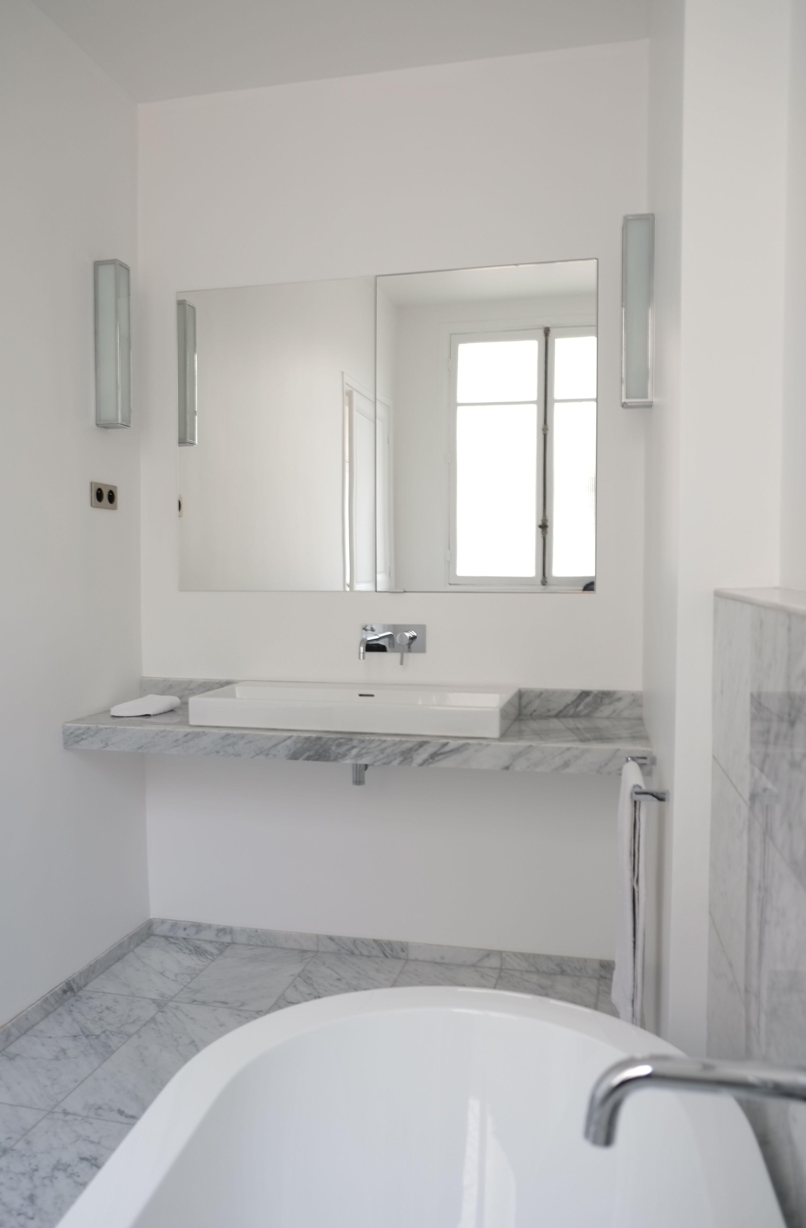 kevin velghe atelier kva salle de bain en marbre de carrare