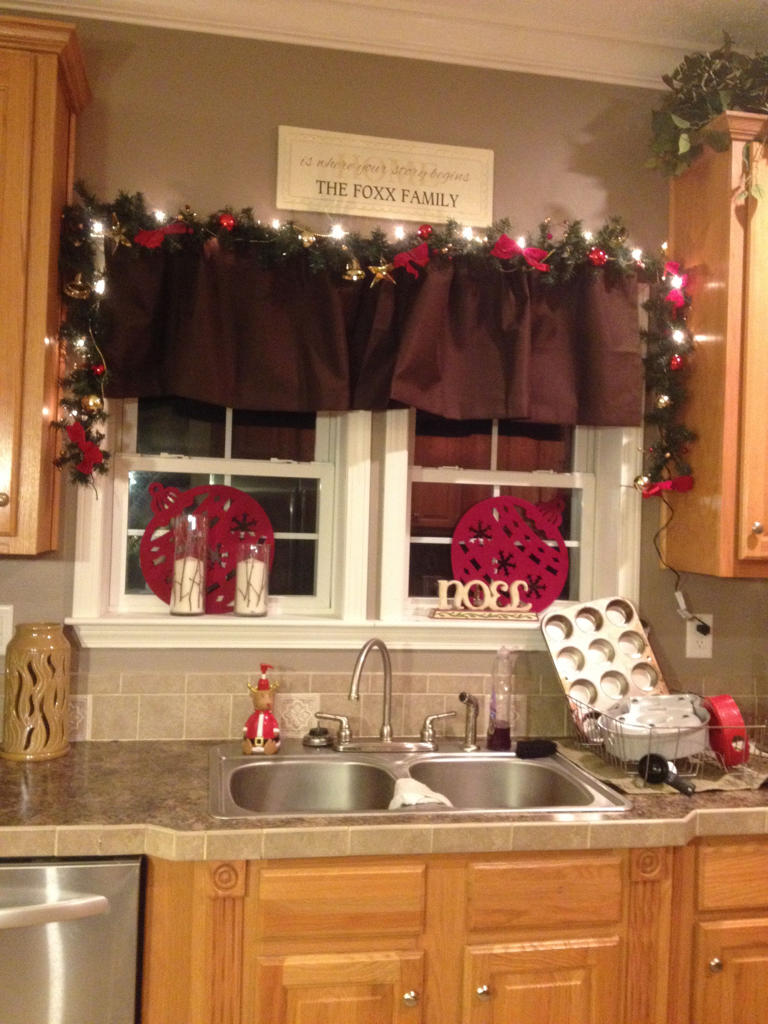 Christmas Kitchen Como Decorar Para Navidad Cortinas Navidenas