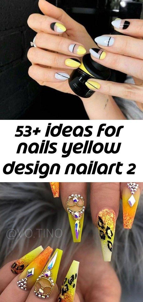 53 Ideen für Nägel Yellow Design Nailart Sarg Nägel Strass Bling Sarg  53 Ideen für Nägel Yellow Design Nailart Sarg Nägel Strass Bling Sarg...