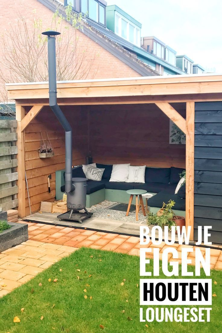 Wooden lounge for under the canopy # canopy #gardenf … – DIY Ideas