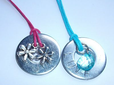 Washer Pendant Necklaces