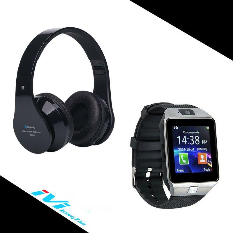 60581c7d640 Smart Watch + Bluetooth Headphones smartwatch headphone Wireless Phone  Watches DZ09 Headband BT-809 for Apple Android Original //Price: $US $19.99  & FREE ...