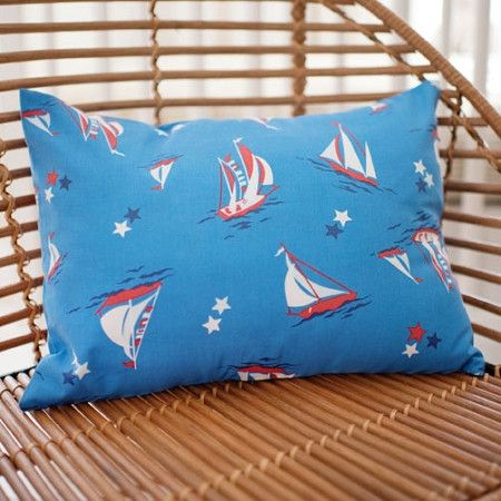 Throw Pillow | Nautical Harbor Crib Baby Bedding Set