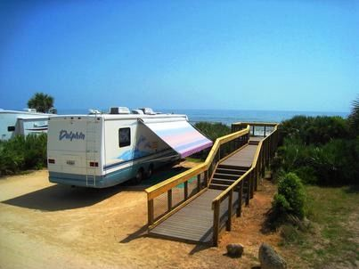 gamble rogers memorial state recreation area accommodates both rv rh pinterest com
