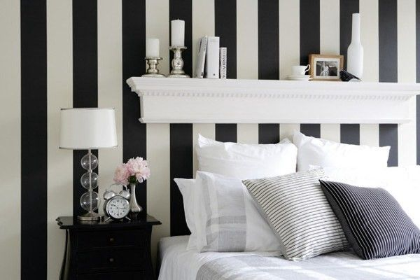 Redecorate Your Home In London On A Budget Striped Room Stripe Wallpaper Bedroom