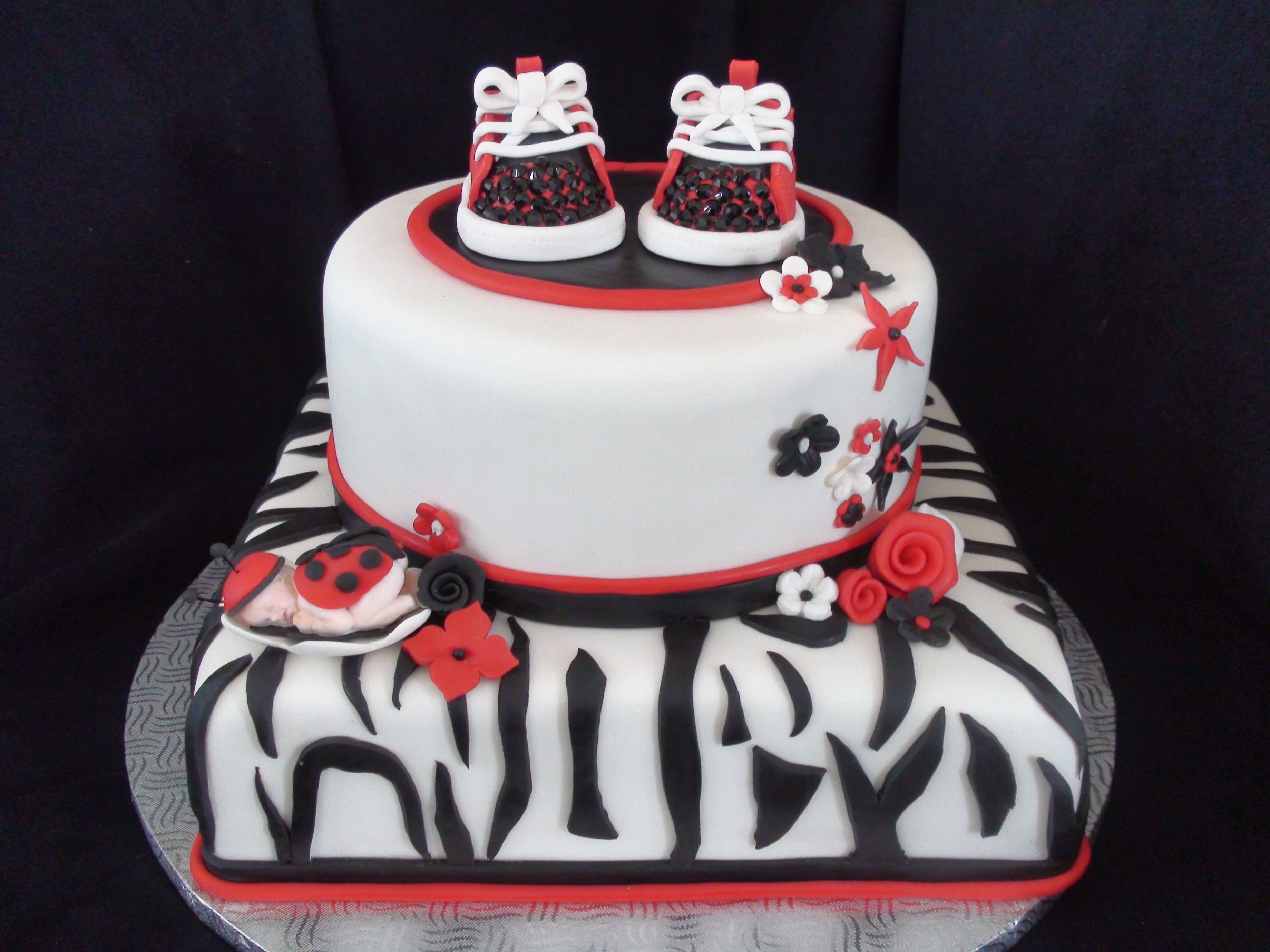 Great LADY BUG BABY SHOWER CAKE
