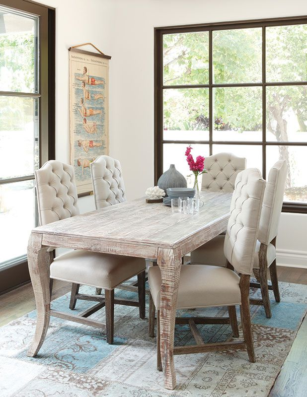 Aria Dining Table With Beautiful Curved Legs Available From The Tin Roof In Spokane