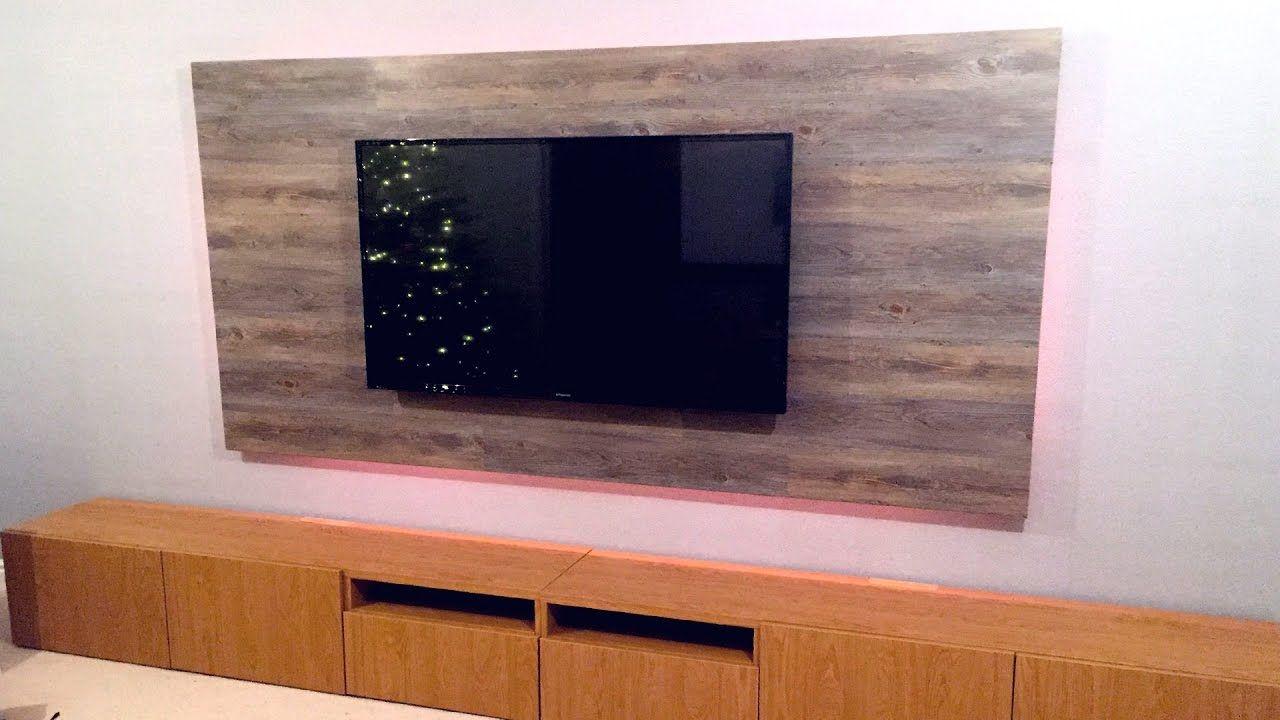Diy floating tv wall build tv wall diy tv stand false wall