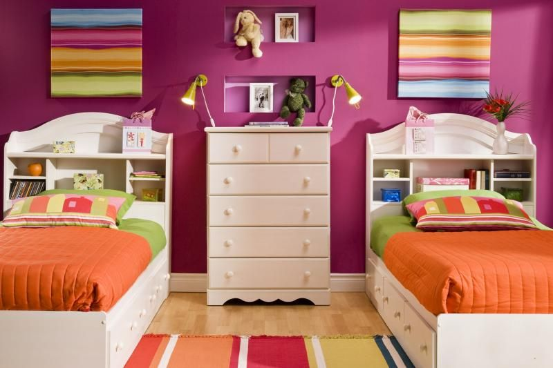 ديكورات غرف نوم اطفال بسريرين منفصلين للمساحات الصغيرة   غرف نوم